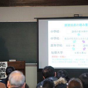 【食物栄養学科】食物栄養ゼミ発表会 2/14