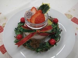 【食物栄養学科】簡単クリスマスデザートのコンテストを行いました 12/16